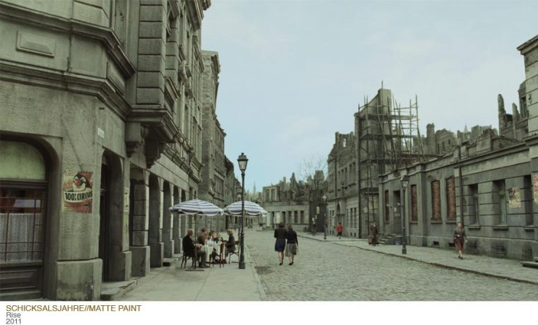 "Matte Painting for german movie ""Vom Glück nur ein Schatten"""