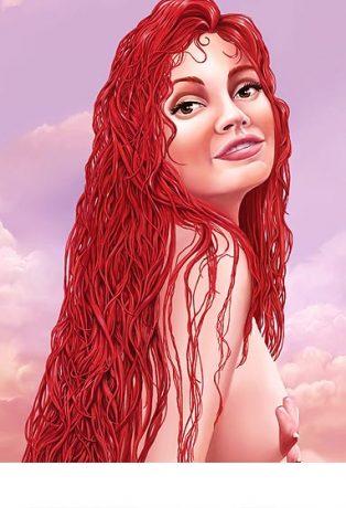 Mermaids, My tail is mine, Low Brow Artist