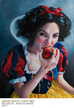 Snow White Painting by Gordana Ristic